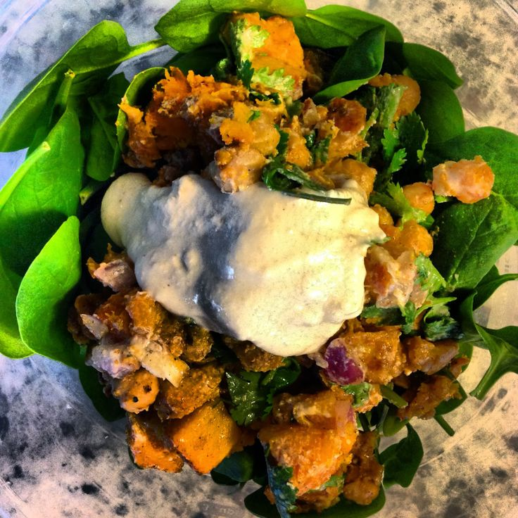 Food52 - Butternut Squash and Chick Pea Salad with Tahini Dressing