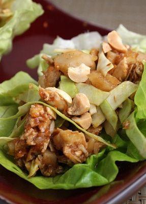 Sweet & Spicy Chicken Lettuce Wraps | Recipe