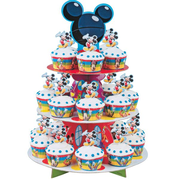 Mickey Mouse Cupcake Stand Kit | Mickey and Minnie Mouse Theme Party ...
