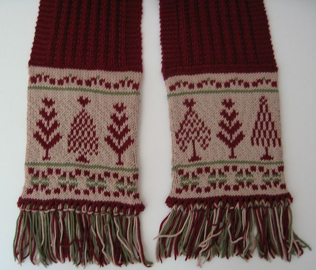 Simple Knitted Hat Pattern Free : A Fair Isle Christmas, Scarf pattern by Mary Triplett