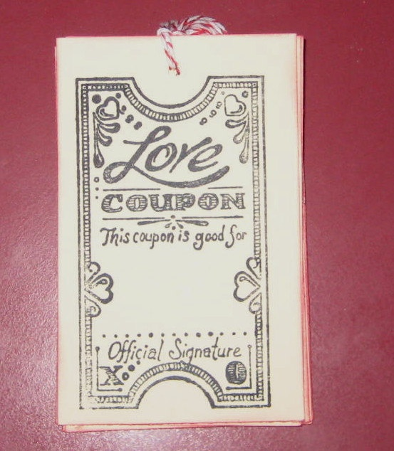 valentines gift coupon book