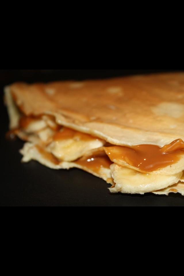Crêpas crepe dulce de leche y banana | Gourmet | Pinterest