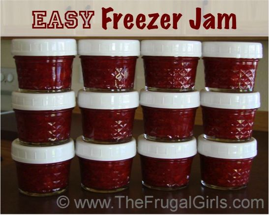 Easy Freezer Jam Recipe {stock your freezer and give some as gifts!} TheFrugalGirls.com #jam #recipes