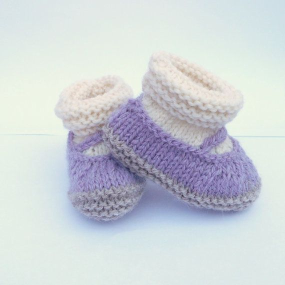 Mary Jane Baby Booties Knit Pattern : Knitting PATTERN BABY Booties All in One Baby Mary Jane Shoes INSTANT?