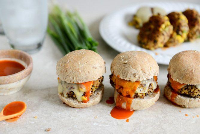 ... Buffalo Style Quinoa Sliders with Sweet Corn + Scallions | Rec