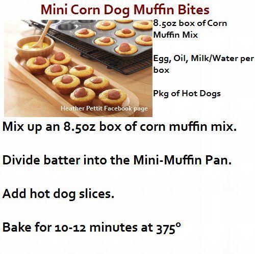 Mini Corn Dog Muffin Bites for Kylie @Alena Gabelchenko Gabelchenko ...
