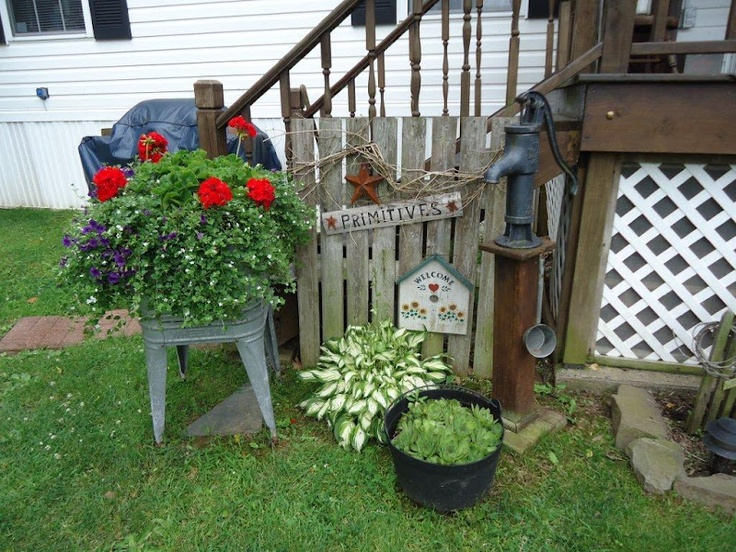 Country backyard landscaping ideas - Found On The Primitive Pantry Blog Blogspot Com