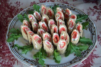 smoked salmon tea sandwiches | Favorite Recipes | Pinterest
