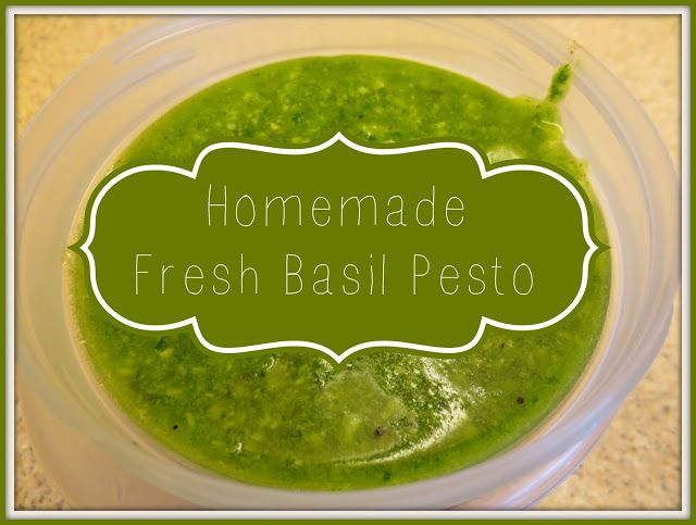 Easy Homemade Fresh Basil Pesto | Pesto & Sauces | Pinterest
