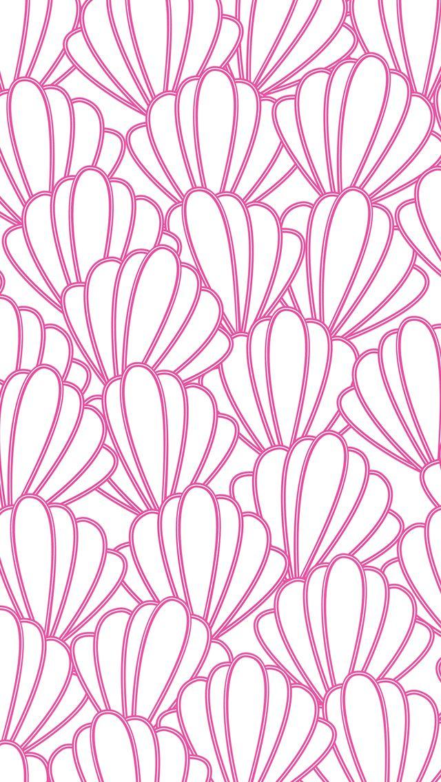 iPhone 5 wallpaper #preppy #seashells #pattern | iPhone ...