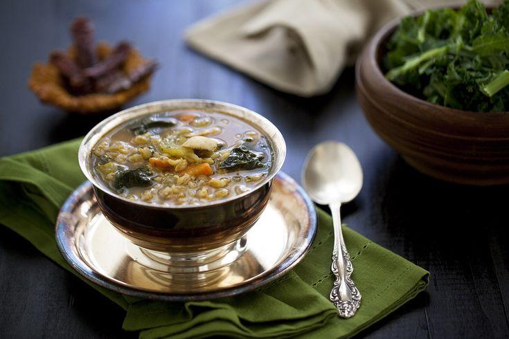 Farro and Kale Soup | Soup! | Pinterest