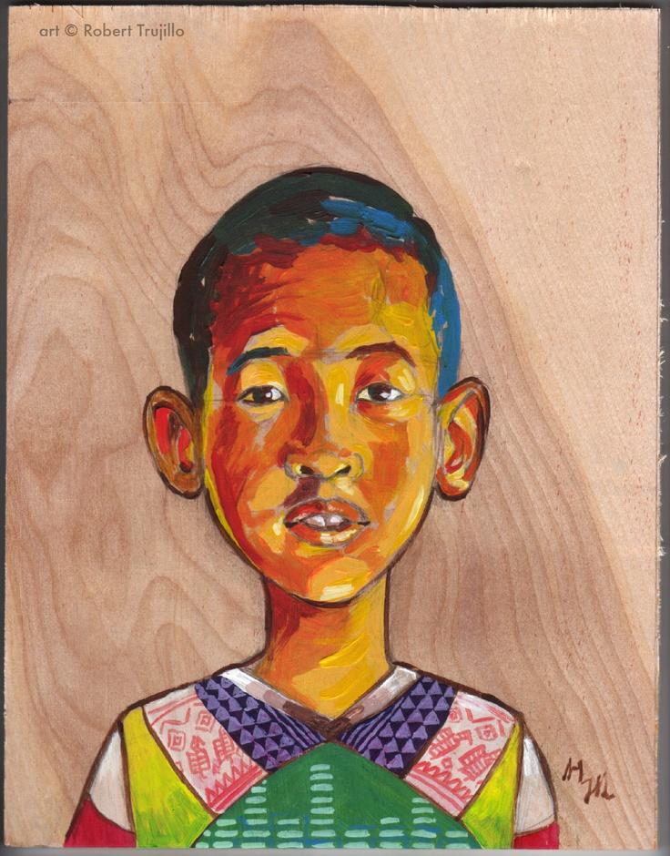 Childrens portraits hand painted via etsy eaoc for Hand painted portraits from photos