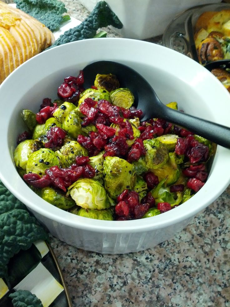 brussels sprouts with balsamic reduction and dried cranberries