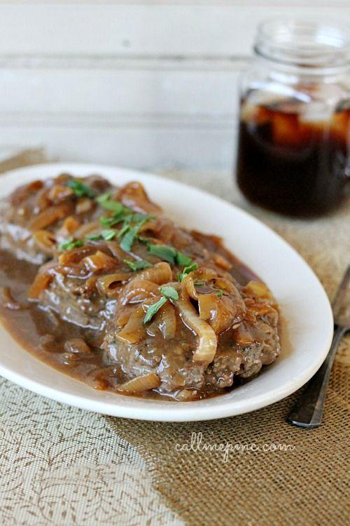 Hamburger Steak with Onions and Brown Gravy Gastromomia