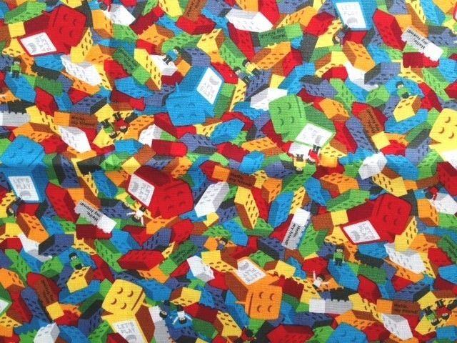 "Colorful Lego Blocks Building Toy Print Fabric 10""(25cm) PUSH PIN ..."