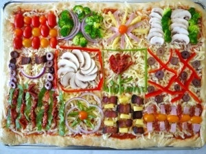Quilt Pizza- for a kids birthday party baby-things