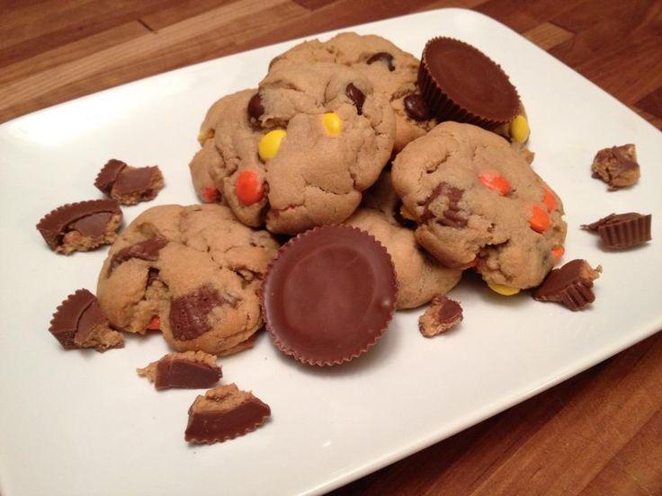 Triple Peanut Butter Cookies   Sweets   Pinterest