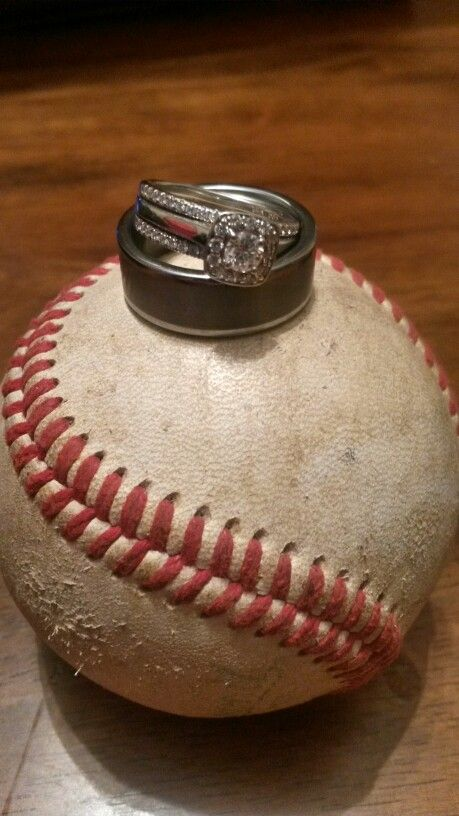 Vintage Baseball Wedding Our Rings Going To The Chapel Pintere