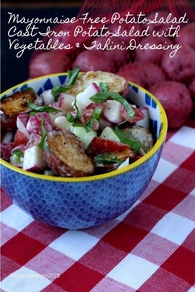 Mango & Tomato: Mayonnaise Free Potato Salad: Cast Iron Potato Salad ...