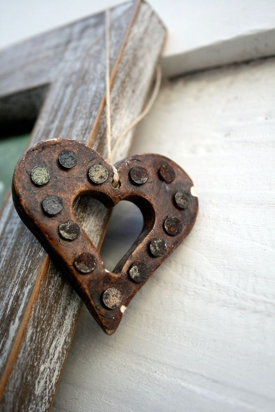 rustic wooden heart, so lovely...