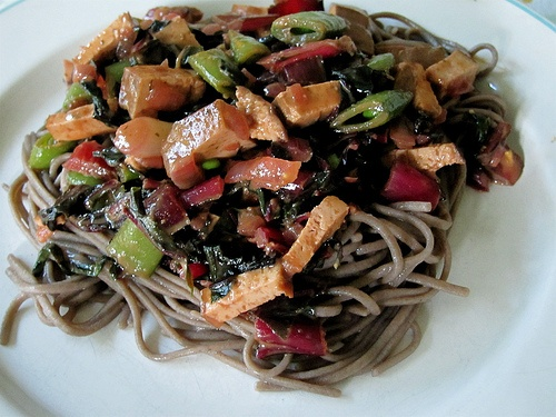 Soba Noodles with Peanut Sauce.   Yummies   Pinterest