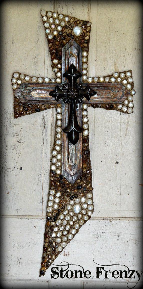 Slant Style Wall Decor Cross