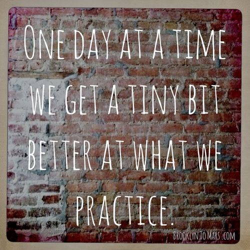 Patience, perseverance..