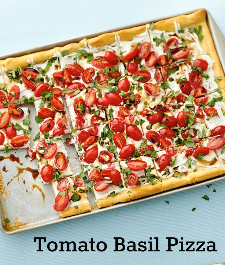 Tomato Basil Pizza Recipe — Dishmaps