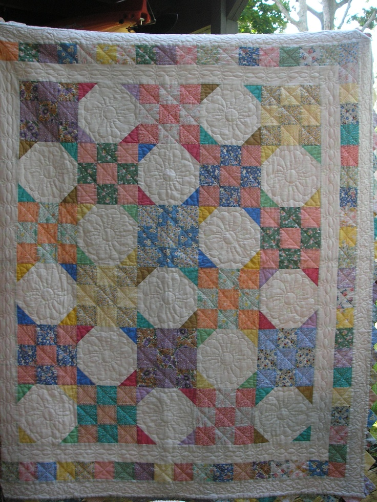 30 s reproduction Snowball quilt Reproduction quilts Pinterest