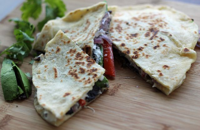 More like this: black bean quesadilla , goat cheese and black beans .