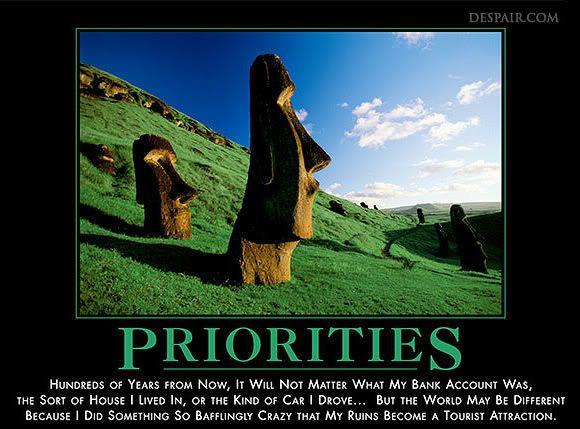 Säger allt. Tänk om. Tänk annorlunda. Gör om. Prioritera bättre!