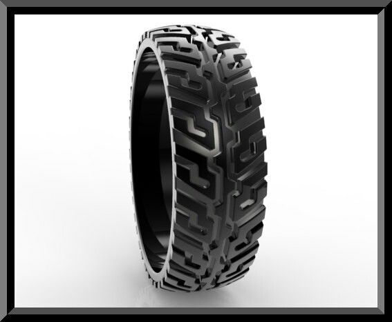 Motorcycle Tire Wedding Ring