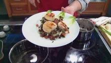Wild Rice And Scallop Salad With Basil Vinaigrette, brown rice ...