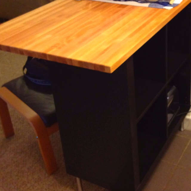 Ikea Expedit Kitchen Island ~ Ikea hacked kitchen island expedit + Lagan countertop + capita feet