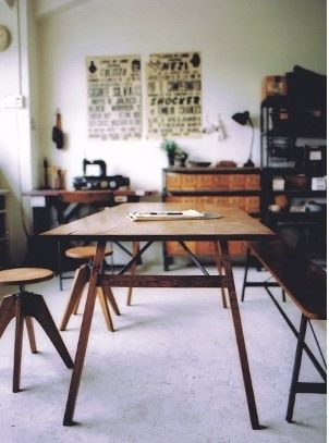 """TRUCK FURNITURE  -  Dining Table      sustainable wood furniture - truck    """"We respect the properties of the materials ― wood, leather, steel ― we use and never pursue novelty for its own sake""""."""