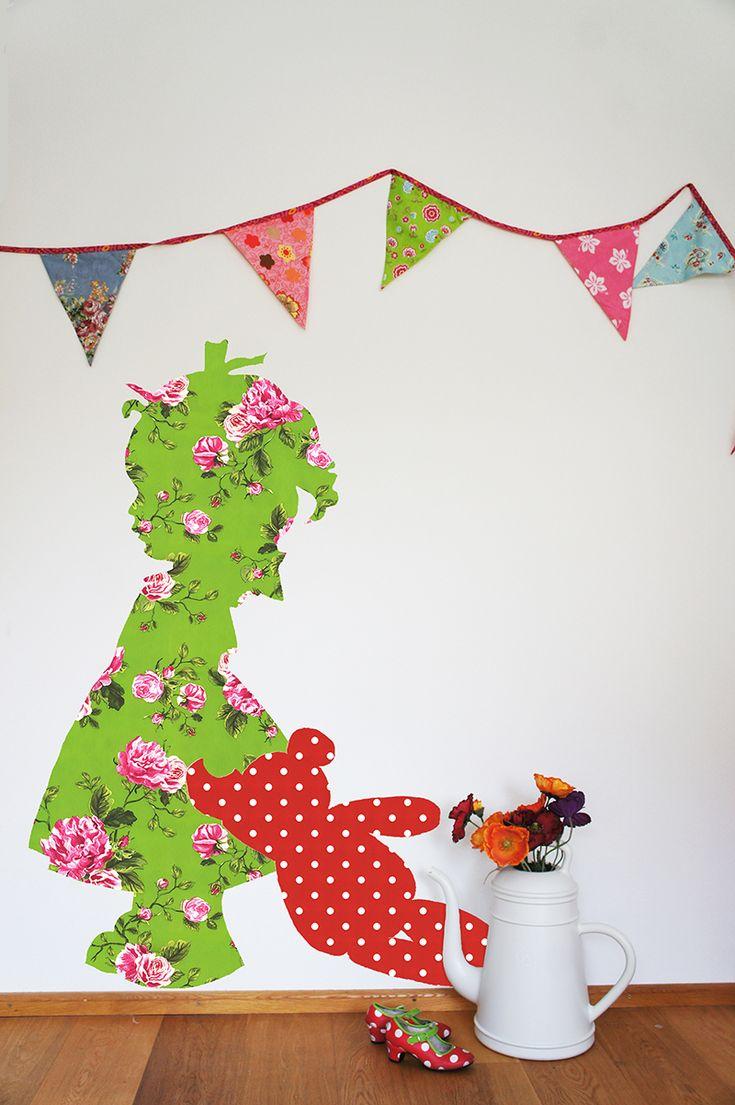 Muurdecoratie kinderkamer meisje  pien haar paleisje  Pinterest