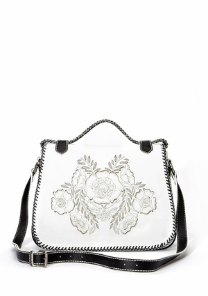 Isabella Fiore gorgeous white purse