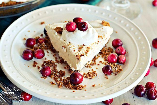 Skinny Eggnog Pie (With a Gingersnap Crust) | Recipe