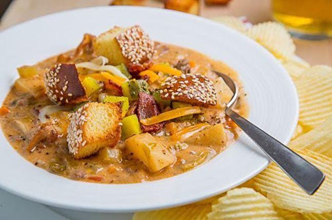BACON DOUBLE CHEESEBURGER SOUP | Feast For Men | Pinterest