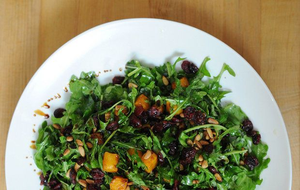 ... and pine nuts arugula salad with roasted squash currants and pine nuts
