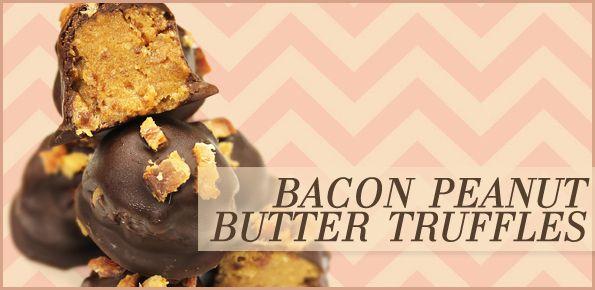 Bacon Peanut-Butter Truffles | desserts | Pinterest