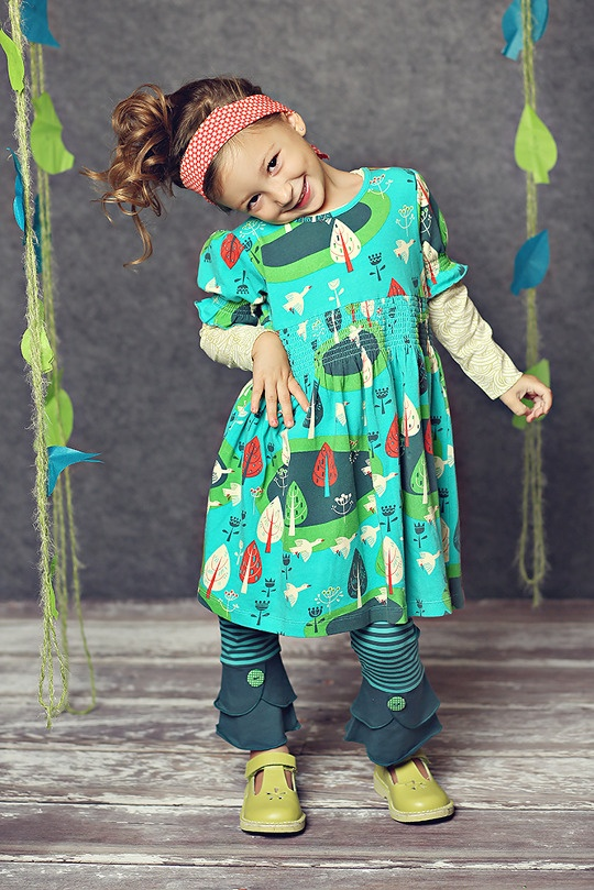 Matilda Jane Clothing ~ Winter Collection ~ Birds of a Feather Lap Dress and Indigo Cropped Leggings #matildajaneclothing #MJCdreamcloset