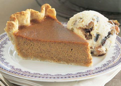 Caramel-Pumpkin Pie with Mincemeat Ice Cream - Bon Appétit
