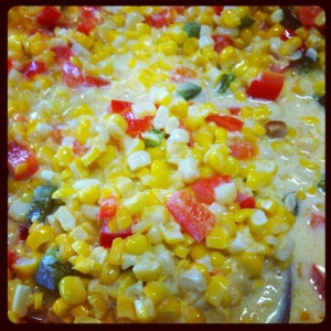 Fresh Corn Casserole with Red Bell Peppers and Jalapeños | Sarafina's ...