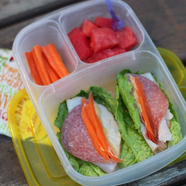 Romaine sandwich wraps with turkey, salami, honey mustard, and carrot ...