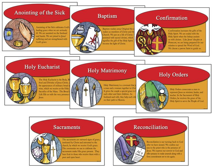 the seven catholic sacraments The sacrament of baptism is often called the door of the church, because it is  the first of the seven sacraments not only in time (since most catholics receive it.