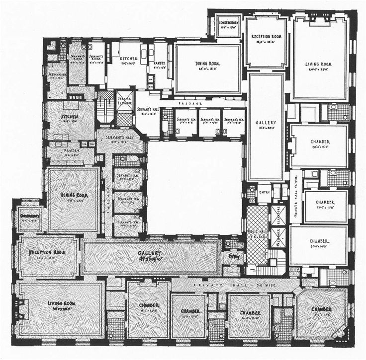 Floor plan of huguette clark 39 s new york apartment old for 15000 square foot house plans