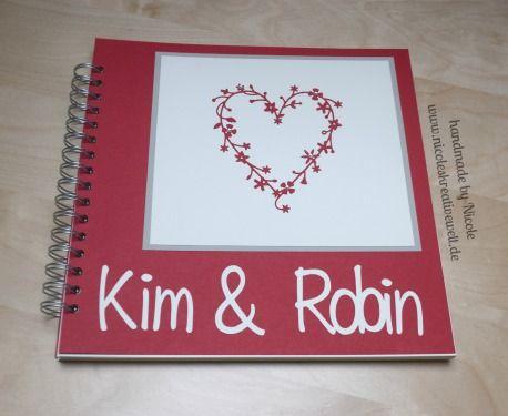 Gästebuch, Hochzeit, Herz Memory Box, Stampin up, Cameo