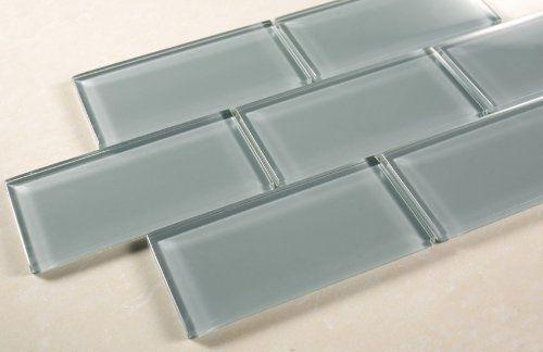 3x6 Blue Grey Glass Tile Bathroom Tile Kitchen Backsplash Tile