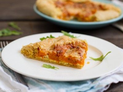 Butternut squash galette with roasted garlic and thyme [Vegetarian, G ...